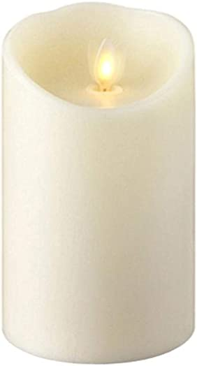 Liown 3.5 X5 Flameless Ivory Vanilla Scented LED Wax Battery Operated Pillar Candle with Timer SKU 14284