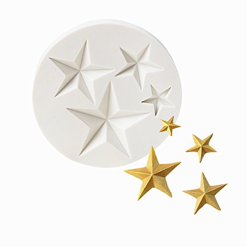 Star Silicone Fondant Mold Chocolate Mold for Sugarcraft, Candy Mold, Cupcake Topper, Polymer Clay,Crafting Projects