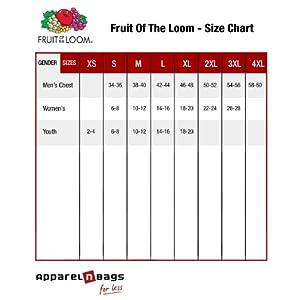 Fruit of the Loom Men's Short Sleeve Crew Tee, XX-Large - Deep Purple
