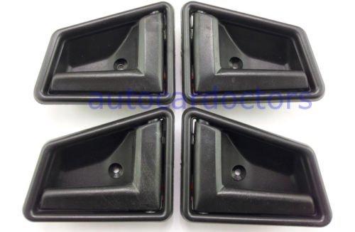 1989-1998 Suzuki Sidekick Black Interior Inside Door Handle Front Right Left Rear Set 4pcs ()