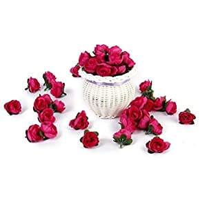 Tinksky 50pcs 3cm Artificial Roses Flower Heads Wedding Valentine's Day Decoration (Rosy) 5