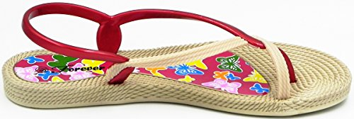 Back Womens Ring Sandal New Toe Burgundy Accent Fashion Shoes Twisted Jelly Sling rx8qYarw