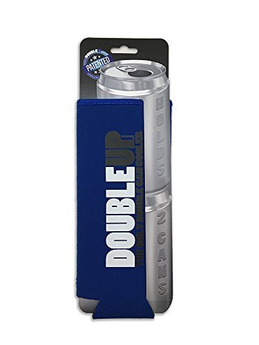 DoubleUp, Double Can Cooler (Blue) - The Can Cooler That Holds Two...