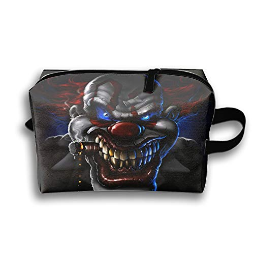 Waterproof Evil Clown Cosmetic Bags Portable Travel Toiletry Pouch ()