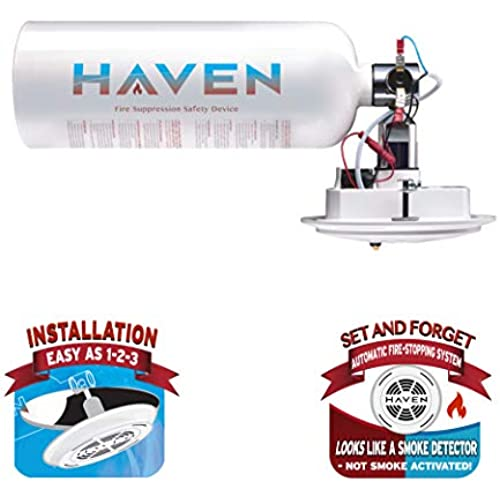 Buy Haven Automatic Heat-Activated Fire Extinguisher, Non-Toxic, ABC, 5 Year Worry-Free Industrial and Urban Protection -Great for Home, Kitchen, Office, Apartment, High Rise Buildings. Get Peace of Mind