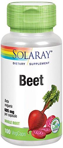 Solaray Beet, 605mg, 100 Capsules