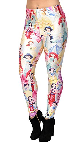 Disney Princess Tights (BadAssLeggings Women's Disney Princesses Leggings XL)
