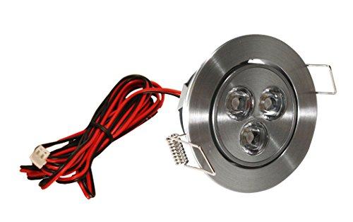 American Lighting LMS-3-AL LED Mini Swivel Puck Light, 3.75-Watts, 3000K Bright White, Dimmable, Satin Aluminum ()