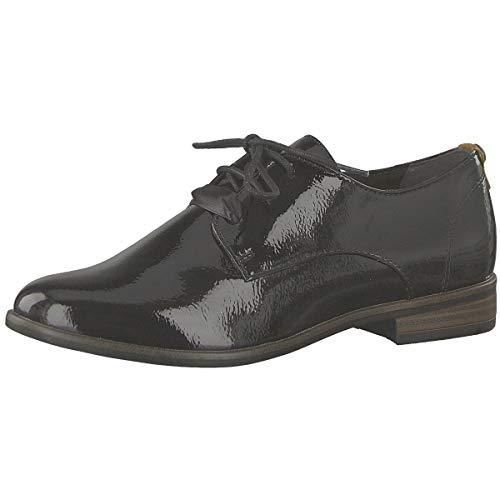 018 23220 Tamaris black 22 1 Stringate Brouge Scarpe Patent 18 Nero Donna 1 EIIqTcwF