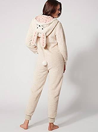 a7fd41e06f BouxAvenue Women s Bunny Onesie UK 06 Oatmeal  Boux Avenue  Amazon ...