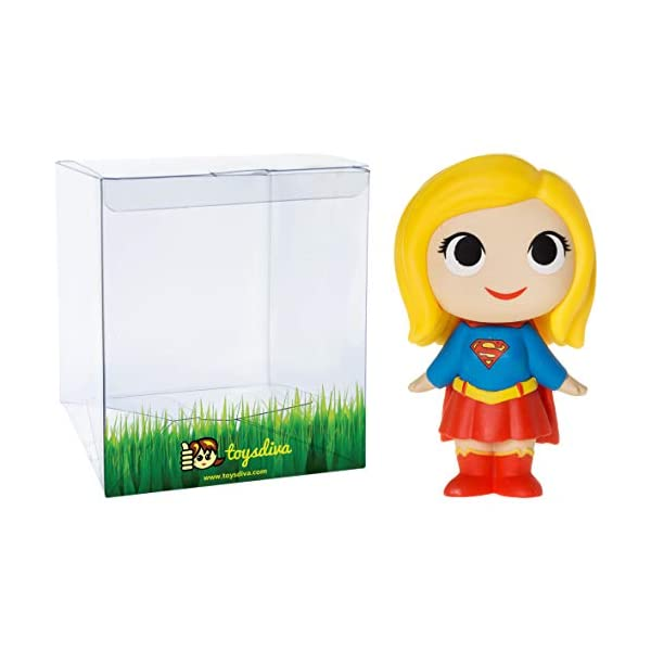41moCvNSAXL Supergirl: 2.7in Funko Mystery Minis Vinyl Figure Bundle with 1 Compatible 'ToysDiva' Graphic Protector (11346 - B)