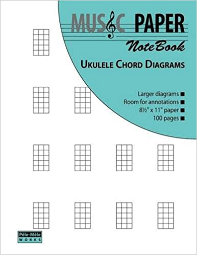 Amazon Music Paper Notebook Ukulele Chord Diagrams