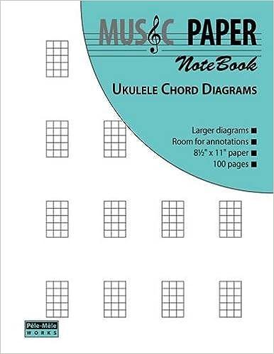 Music Paper Notebook Ukulele Chord Diagrams Amazon Ashkan