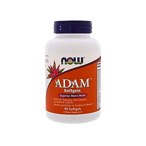 (NOW Supplements, ADAMTM Men's Multivitamin with Saw Palmetto, Plant Sterols, Lycopene & CoQ10, 90 Softgels)
