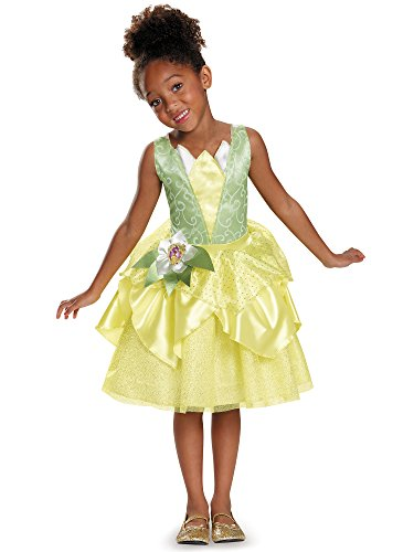 Tiana Classic Disney Princess & The Frog Costume, Small/4-6X - Princess And Frog Halloween Costume