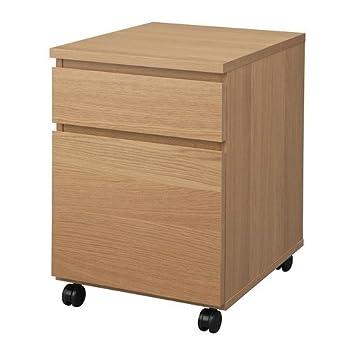 IKEA MALM - unidad de cajón con ruedas, efecto roble - 42x51 ...
