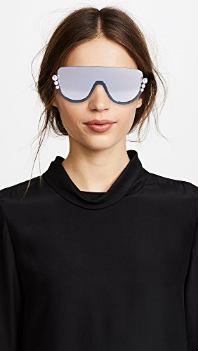 a305f9c3c4 Fendi RIBBONS AND PEARLS FF 0296 S BLACK DARK GREY women Sunglasses   Amazon.co.uk  Clothing