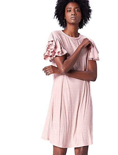 Donna pale Find Cotone Midi Jersey Rosa In Pink Vestito nwxHgRqfS