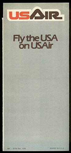 US Air airline ticket wallet wrapper April 1981 unused.