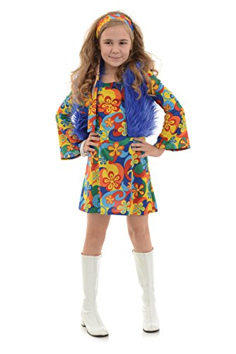 Underwraps Big Girl's Girl's Far Out Costume - Large Childrens Costume, Multi, Large ()