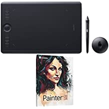 Wacom Intuos Pro Digital Graphic Drawing Pen Tablet Medium PTH660 with Corel Painter 2018 Academic