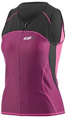 Louis Garneau Women's Comp Sleeveless Triathlon Top, Black/Pink/Purple, - Tri Top Womens