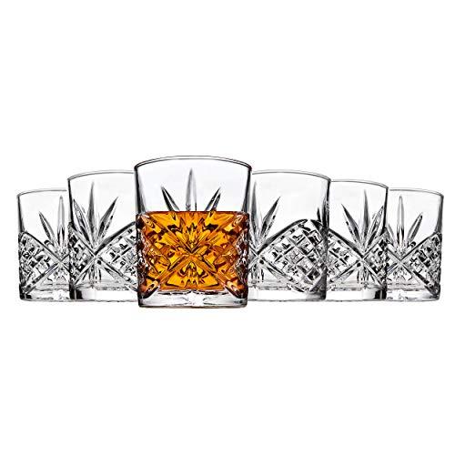 Double Set Fashioned Old (Godinger Dublin Double Old Fashioned Glasses, Set of 6)
