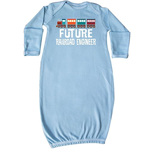 inktastic Future Railroad Engineer Train Newborn Layette Light Blue 2e7fd