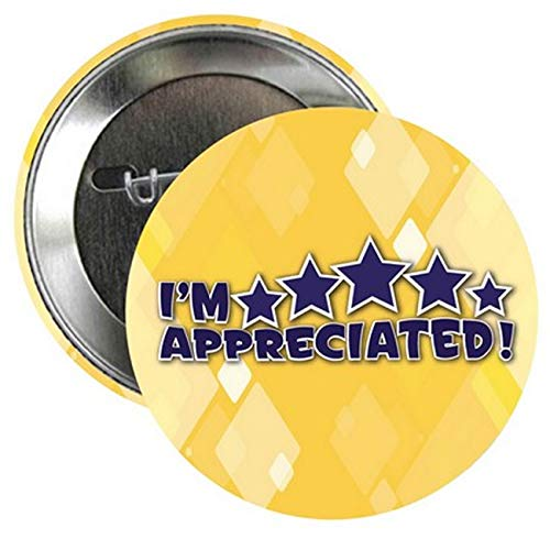 I'm Appreciated 2-1/4'' Buttons (Pack of 25) - Staff & Employee Decorative Items - Appreciation Celebration Awards