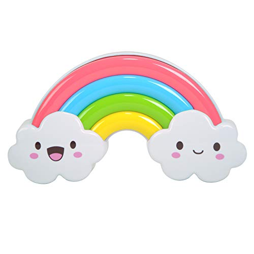 (LED Portable Baby Night Light Rechargable Rainbow Bedside Nightlight Voice Control Night Lamp for Kids Room)