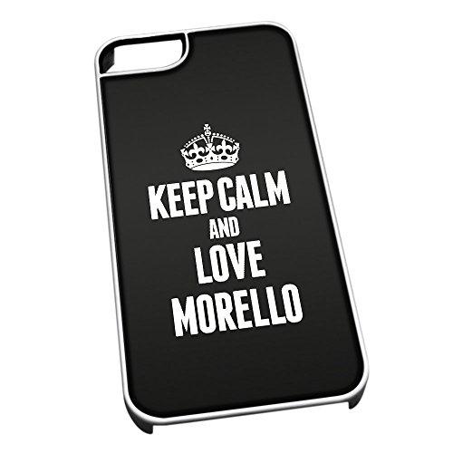 Bianco cover per iPhone 5/5S 1293nero Keep Calm and Love Morello