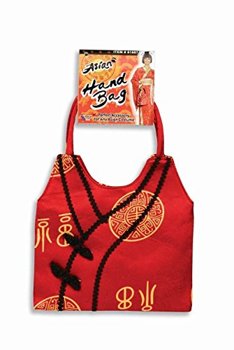 Ethnic Chinese Costume (Red Asian Hand Bag Purse Oriental Chinese Japanese Ethnic Costume Accessory New)