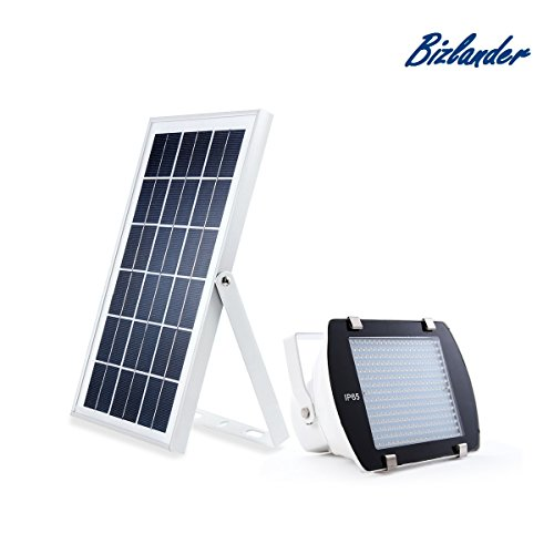 Bizlander Commercial outdoor Solar Light lamp 300 LED Portable with Lithium Battery easy Installation Dusk to Dawn for Security Storage shed porch spot Camping Lawn Barn light Signs Manual Switch by Bizlander