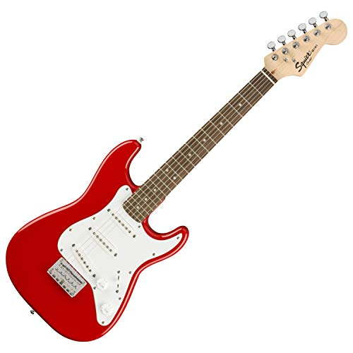 Squier by Fender Mini Stratocaster Beginner Electric Guitar - Indian Laurel Fingerboard - Torino Red
