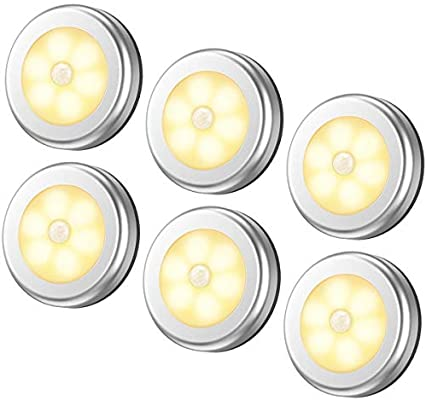 6 Packs Motion Sensor Light Cordless Battery Powered Led Night Lights For Hallway Bathroom Bedroom Kitchen Closet Lights Stair Puck Lighting Warm White Buy Online At Best Price In Uae Amazon Ae