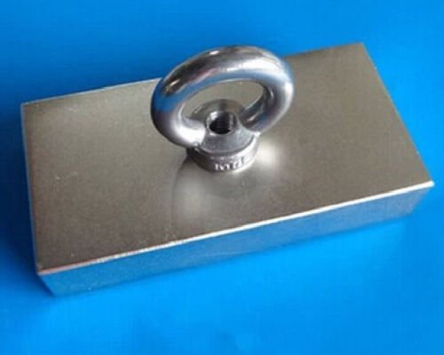 AOMAG Large Rare Earth Neodymium N52 Bar Block Magnet 100 x 50 x 20mm With 10mm Countersunk Hole