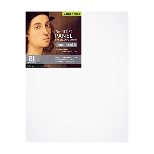 "Value Wood Art Painting Panel Primed Smooth by Ampersand 1/8"" Flat Profile 11""x14"" from Ampersand Art Supply"