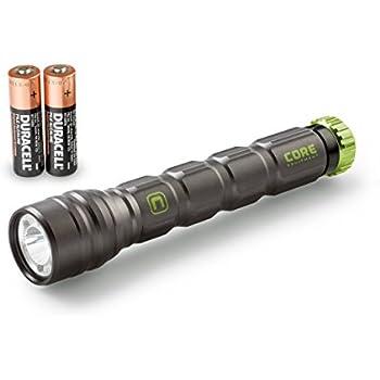 CORE CREE LED Flashlight, Multiple Modes, Aluminum, Batteries Included (275 Lumen)