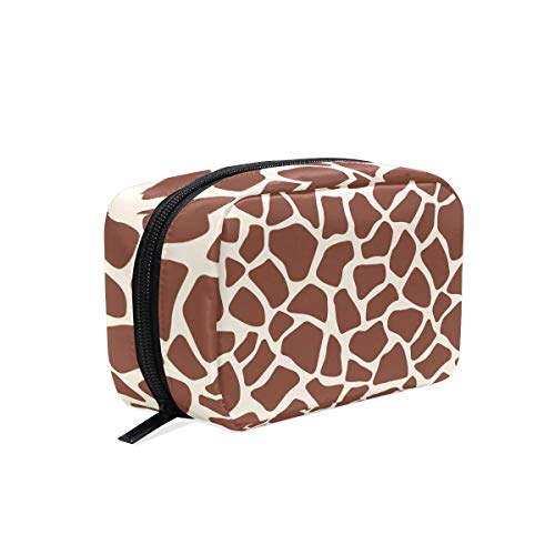 Unicey Giraffe Print Makeup Bags Portable Tote Cosmetics Bag Travel Cosmetic Organizer Toiletry Bag Make-up Cases for Women