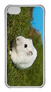 LJF phone case Customized iphone 4/4s PC Transparent Case - White Mice Cover