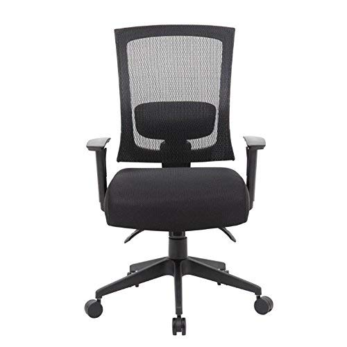 (Boss Office Products B6716-SS-BK Mesh Back 3 Paddle Task Chair with Seat Slider in Black)