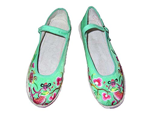 100% Fait Main Chaussures Femme Espadrille Ballerines Ethniques Chinoises #123