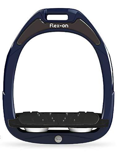 【 限定】フレクソン(Flex-On) 鐙 ガンマセーフオン GAMME SAFE-ON Mixed ultra-grip フレームカラー: ネイビー フットベッドカラー: ブラック エラストマー: ホワイト 08290   B07KMF4T58