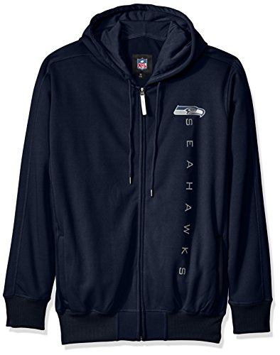 Seattle Seahawks Nfl Hoody (NFL Seattle Seahawks Men's Snap Fleece Full Zip Hoodie, Navy,)