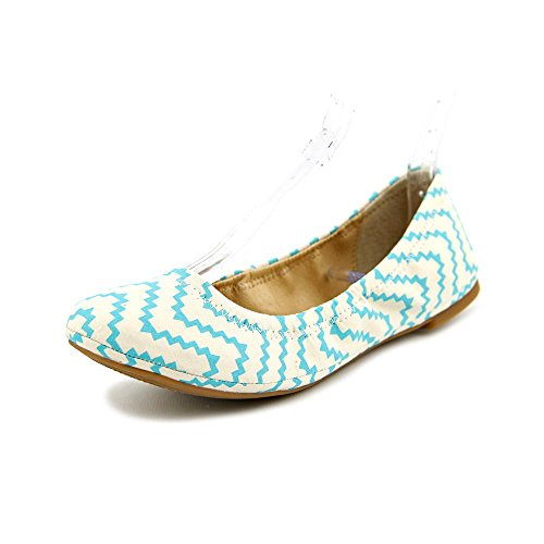 Lucky Brand Emmie Womens Size 7 Ivory Fabric Ballet Flats Shoes