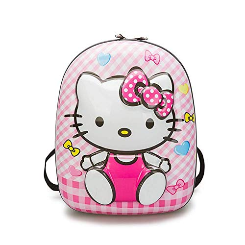 YOURNELO Kid's Cartoon Cute Hello Kitty Bear Shells Backpack Nursery School Bookbag (Hello Kitty)