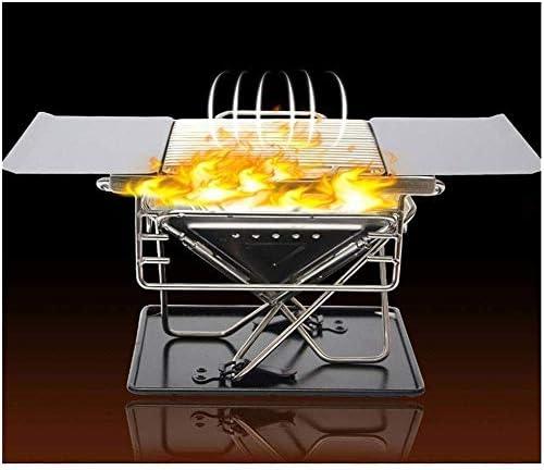 Nologo ZHIJINGKEJI Pliable Portable Léger Petit Barbecue Grill Outils for La Cuisine en Plein Air Grillade Camping Randonnée Pique-Nique Tailgating Backpacking Party
