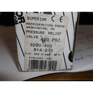 SUPERIOR PRODUCTS 3220-400//26007002 PRESSURE-RELIEF VALVE PRESSURE SETTING:400 PSIG