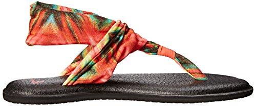 Sanuk Yoga Sling 29418275 Damen Zehentrenner Watermelon/Multi