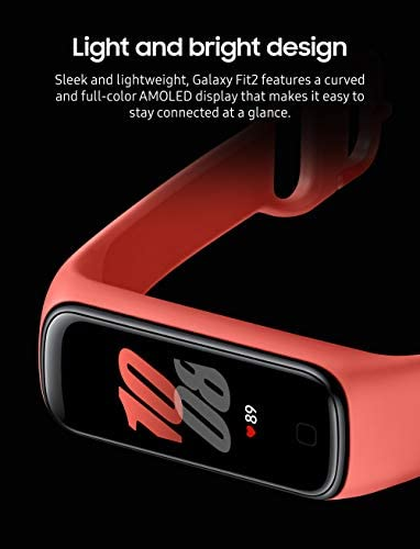 Samsung Galaxy Fit 2 Bluetooth Fitness Tracking Smart Band – Scarlet (US Version) 4
